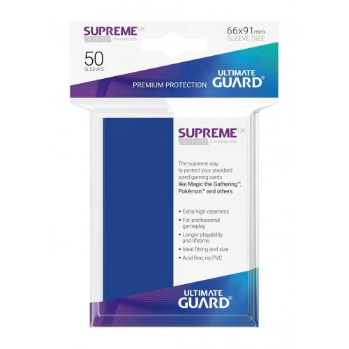 Ultimate Guard - 50 pochettes Supreme UX Sleeves taille standard Bleu