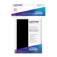 Ultimate Guard - 50 pochettes Supreme UX Sleeves taille standard Noir