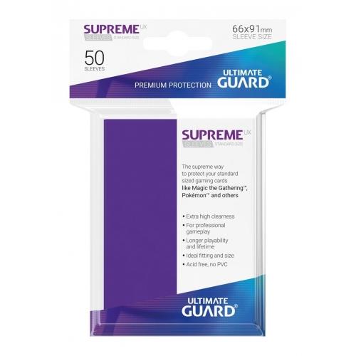 Ultimate Guard - 50 pochettes Supreme UX Sleeves taille standard Violet