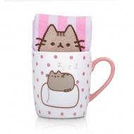 Pusheen - Mug avec paire de chaussettes Marshmallow