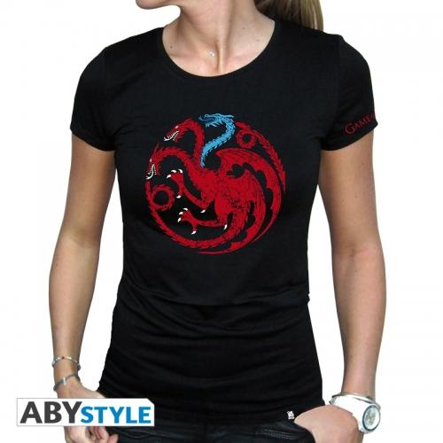Game Of Thrones - T-shirt Targaryen Viserion femme MC black