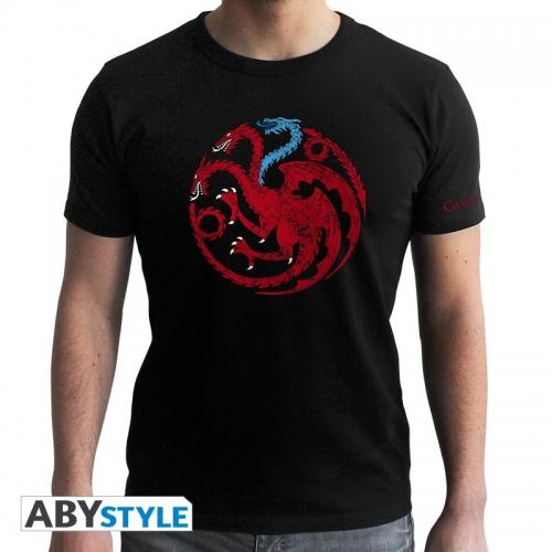 Game Of Thrones - T-shirt Targaryen Viserion -homme MC black - new fit