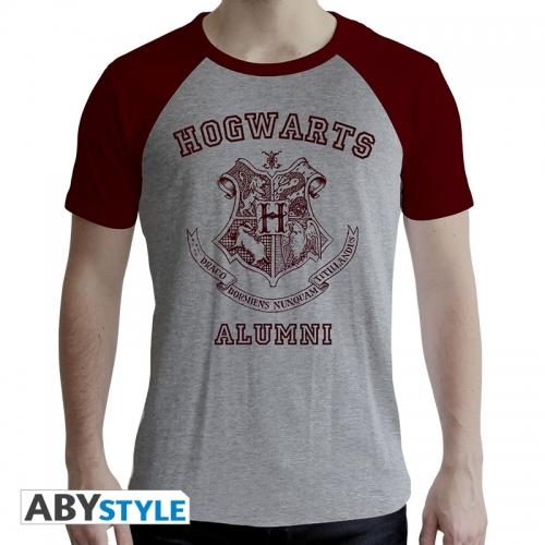 Harry Potter - T-shirt Alumni homme MC gris & rouge - premium