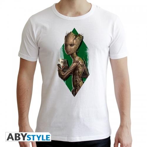 Marvel - T-shirt Groot Ado homme MC white - new fit