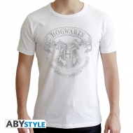 Harry Potter - T-shirt Poudlard homme MC white - new fit