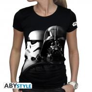 Star Wars - T-shirt Vador-Troopers femme MC black