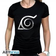 Naruto Shippuden - T-shirt Konoha femme MC black - basic