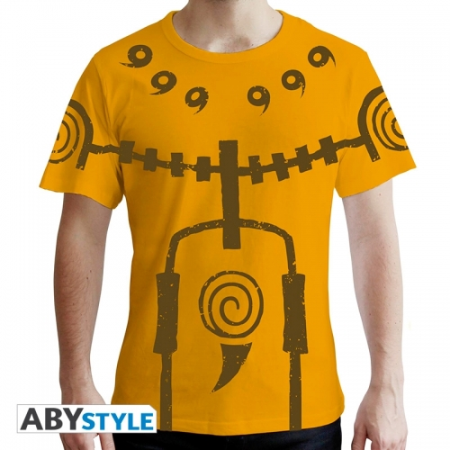 Naruto Shippuden - T-shirt Chakra Mode homme MC jaune - premium