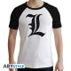 Death Note - T-shirt L Symbole homme MC blanc - premium