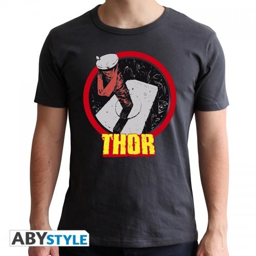Marvel - T-shirt Thor homme MC dark grey - new fit