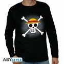 One Piece - T-shirt Skull with map homme ML black
