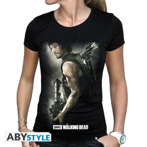 The Walking Dead - T-shirt Daryl Arbalète femme MC black - basic