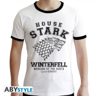 Game Of Thrones - T-shirt House Stark homme MC blanc - premium