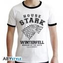 Game Of Thrones - T-shirt House Stark homme MC blanc - premium