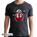 Star Wars - T-shirt BB8 E8 homme MC dark grey  - new fit