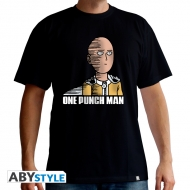 One Punch Man - T-shirt Saitama Fun homme MC black - basic