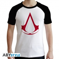 Assassin's Creed - T-shirt Crest homme MC blanc & noir - premium