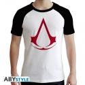 Assassin's Creed - T-shirt Crest homme MC blanc & noir - premium
