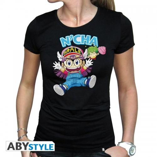 Dr Slump - T-shirt Arale & Gacchan femme MC black