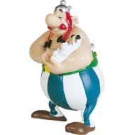 Asterix - Figurine Obelix tenant Idefix 8 cm