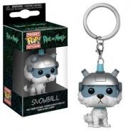 Rick et Morty - Porte-clés Pocket POP! Snowball 4 cm