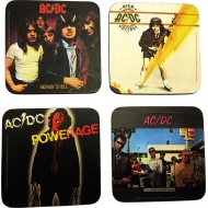 AC/DC - Pack 4 sous-verres AC/DC