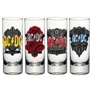 AC/DC - Set 4 verres à liqueur Black Ice