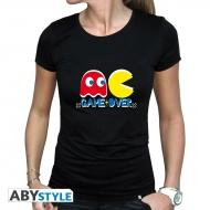 Pac -MAN - T-shirt Game Over femme MC black
