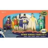 DC Comics - Pack 5 figurines flexibles Batman 1966 Set II 14 cm