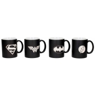 Justice League - Pack de 4 mugs céramique Logos Collector's Edition Justice League