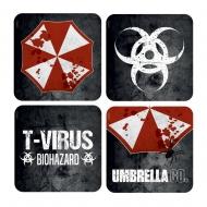 Resident Evil - Pack 4 sous-verres 3D Umbrella