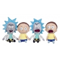 Rick et Morty - Set 4 peluches 25 cm