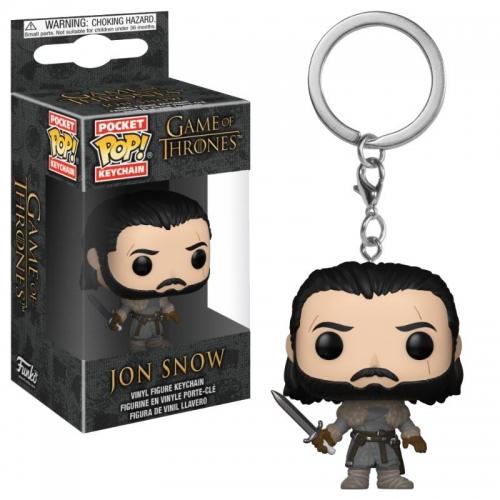Game of Thrones - Porte-clés Pocket POP! Jon Snow (Beyond the Wall) 4 cm