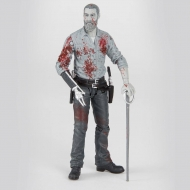 The Walking Dead - Figurine Rick (Bloody B&W) 15 cm