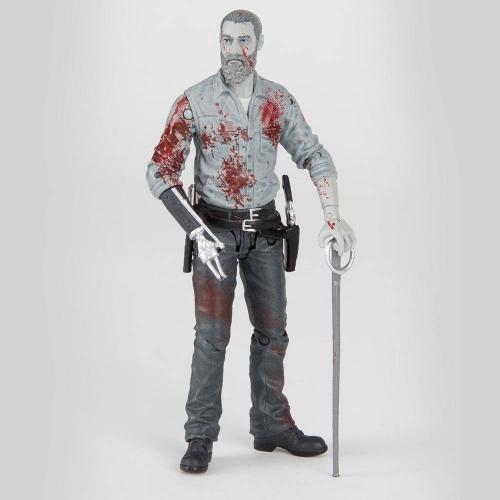 The Walking Dead - Figurine Rick (Bloody B&W) 15 cm
