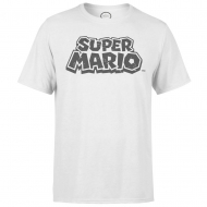 Nintendo - T-Shirt Super Mario Distressed Logo