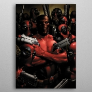 Marvel - Poster en métal Deadpool Gritty Wrong Neighborhood 32 x 45 cm