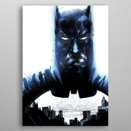 DC Comics - Poster en métal Batman Light Absorption Heart of Gotham 10 x 14 cm