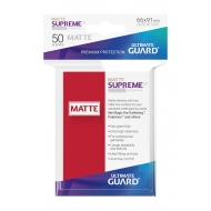 Ultimate Guard - 50 pochettes Supreme UX Sleeves taille standard Rouge Mat