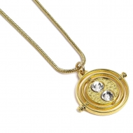 Harry Potter - Pendentif et collier Fixed Time Turner (plaque or)
