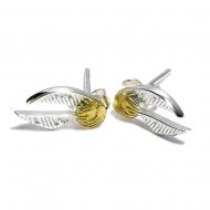Harry Potter - Boucles d'oreille Golden Snitch (plaque argent)
