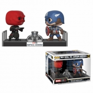 Marvel - Pack 2 Figurines POP! Bobble Head Captain America & Red Skull 9 cm
