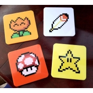 Super Mario World - Pack 4 sous-verres Power-Ups Lootcrate Exclusive