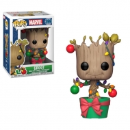 Marvel Comics - Figurine POP! Bobble Head Groot (Lights & Ornaments) 9 cm