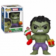 Marvel Comics - Figurine POP! Bobble Head Hulk (Stocking & Plush) 9 cm
