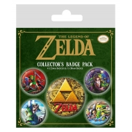 The Legend of Zelda - Pack 5 badges Classics