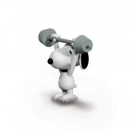 Snoopy - Figurine Snoopy haltérophile 6 cm