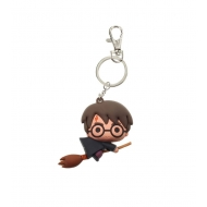 Harry Potter - Porte-clés caoutchouc Harry Potter & Broom Nimbus 7 cm