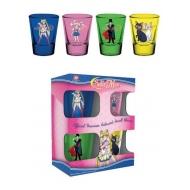 Sailor Moon - Set 4 verres à liqueur Premium Characters & Symbols