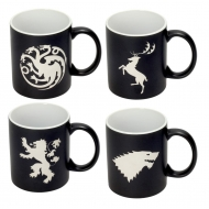 Game of Thrones - Pack 4 mugs céramique Logos Collector's Edition